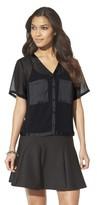 Mossimo Women's Sheer Crop Top - Black