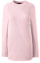 Classic Women's Ribbed Tunic Sweater-Soft Tea Rose