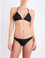 Zoe Karssen Star Patches mesh triangle bikini top