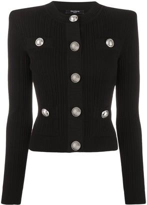 Balmain Structured Shoulders Cardigan