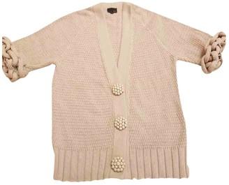 Fendi Beige Cotton Knitwear for Women