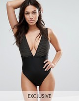 Wolfwhistle Wolf & Whistle Studded Swimsuit B-F Cup