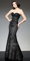 Tony Bowls Le Gala Boned Sweetheart Lace Evening Gown