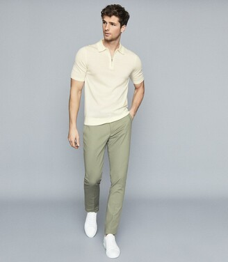 Reiss Eastbury Slim - Slim Fit Chinos in Sage