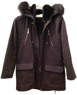 Georges Rech Navy Cotton Coat for Women