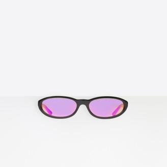 Balenciaga Sunglasses in black acetate with purple lenses