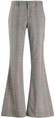 Each X Other checked flared trousers