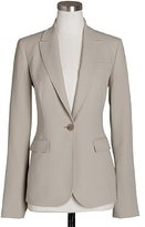 Tall wool crepe one-button jacket