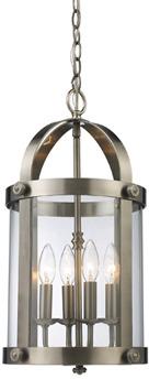 Bed Bath & Beyond Landmark Lighting Chesapeake 4-Light Lantern - Satin Nickel