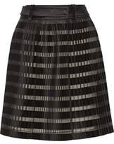 3.1 Phillip Lim Pleated Satin And Organza-Paneled Skirt