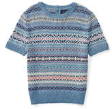 Ralph Lauren 7-16 Fair Isle Cotton-Blend Sweater