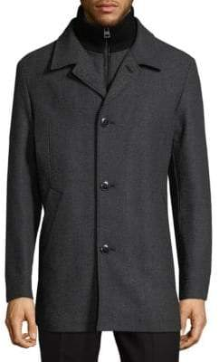 HUGO BOSS Barelto Textured Longline Jacket