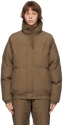 Essentials SSENSE Exclusive Brown Puffer Jacket