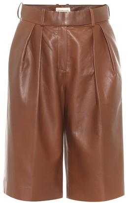 Alexandre Vauthier Leather high-rise shorts