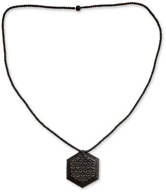 Novica Handmade Ebony Wood 'Mughal Enchantress' Necklace