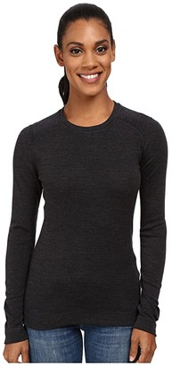 Smartwool NTS Mid 250 Crew Top (Black) Women's Long Sleeve Pullover