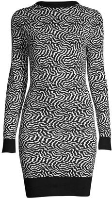 Victor Glemaud Backless Zebra Sweater Dress