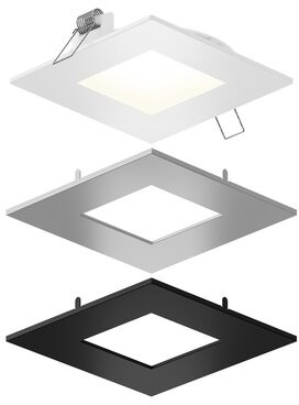 """DALS Lighting Aegis LED Panel Light Open Recessed Lighting Kit DALS Lighting Size: 1"""" H x 6"""" W x 6"""" D"""