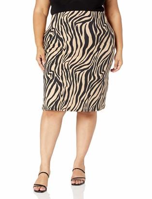 Forever 21 Women's Plus Size Tiger Print Skirt