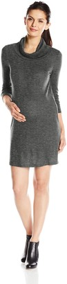 Everly Grey Women's Maternity Marina Long Sleeve Cowl Neck Sweater Dress