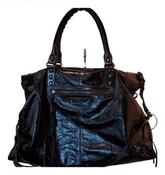 Balenciaga Weekender Black Leather Travel bags