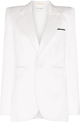 Saint Laurent square-shoulder blazer jacket