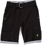U.S. Polo Assn. Black Belted Cargo Shorts - Boys