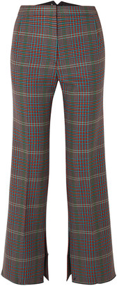 Golden Goose Rendena Cropped Checked Wool Wide-leg Pants