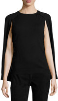 Kobi Halperin Liliana Wool Cape Sweater, Black