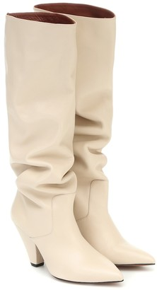 Souliers Martinez San Jose leather knee-high boots