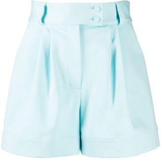 Styland Belted Pleated Waist Shorts
