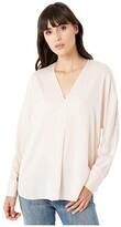Vince Long Sleeve V-Neck Popover (Pale Petal) Women's Clothing