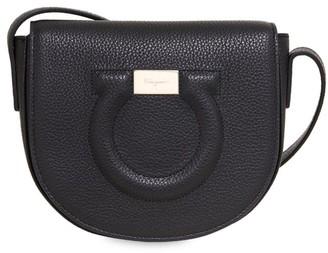 Salvatore Ferragamo Gancio City Leather Saddle Bag