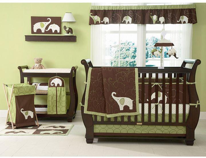 Carter's 4-pc. elephant crib set - green