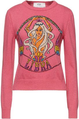 Alberta Ferretti Love Me Starlight Libra Intarsia-knit Sweater