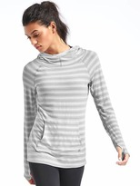 Gap GapFit Breathe ombre stripe pullover hoodie