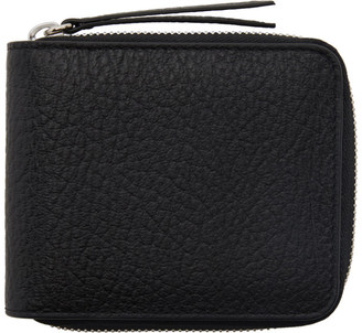 Maison Margiela Black Leather Zip Wallet