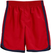 City Threads Swim Trunk (Baby) - Red With Navy Trim - 6-9 Months
