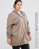 Asos Oversized Zip Front Hoodie