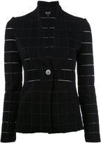 Giorgio Armani Grid fitted jacket - women - Polyamide/Polyester/Spandex/Elastane/Viscose - 40