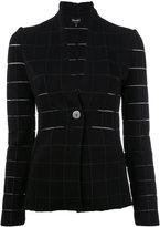 Giorgio Armani Grid fitted jacket - women - Polyamide/Polyester/Spandex/Elastane/Viscose - 40