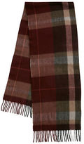 Black Brown 1826 Cashmere Plaid Scarf