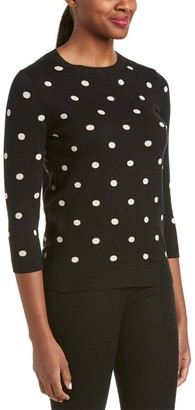 Joan Vass Women's Classic Polka Dot Sweater