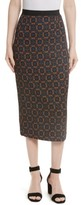 Tracy Reese Women's Print Stretch Silk Pencil Skirt