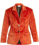 Isa Arfen Notch-lapel crushed-velvet cotton-blend jacket