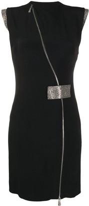 John Richmond Diagonal-Zip Mini Dress