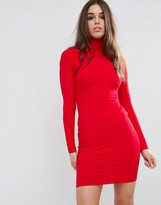 Asos Bodycon Mini Dress with Turtleneck