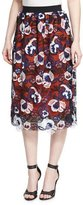 Self-Portrait Summer Lace A-Line Skirt, Multicolor