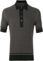 Tom Ford textured jaquard polo shirt - men - Silk/Cotton/Cashmere - 52