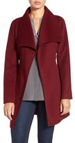 T Tahari Women's Tahari 'Ella' Belted Double Face Wool Blend Wrap Coat
